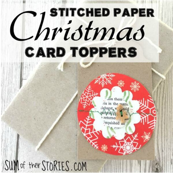 stitched paper card toppers for christmas