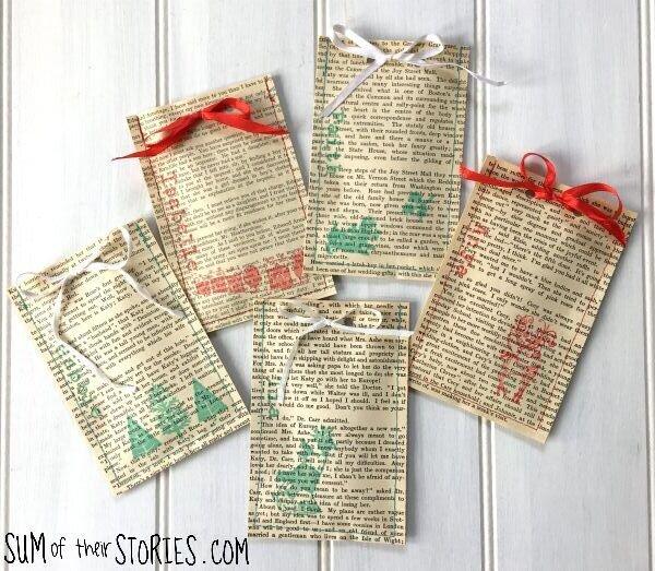old book gift bag tutorial