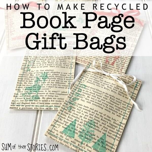 How to make book gift bags