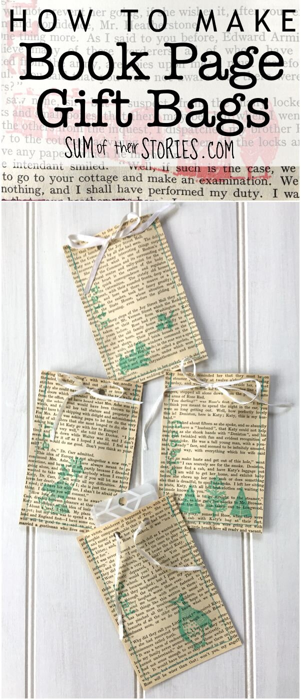 how to recycle old books into gift bags
