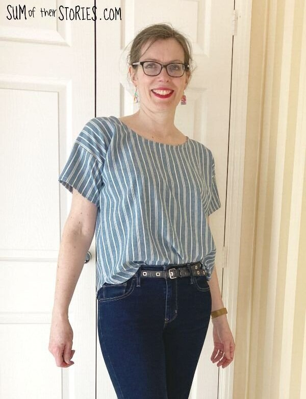 how to make a summer top from an old men's shirt