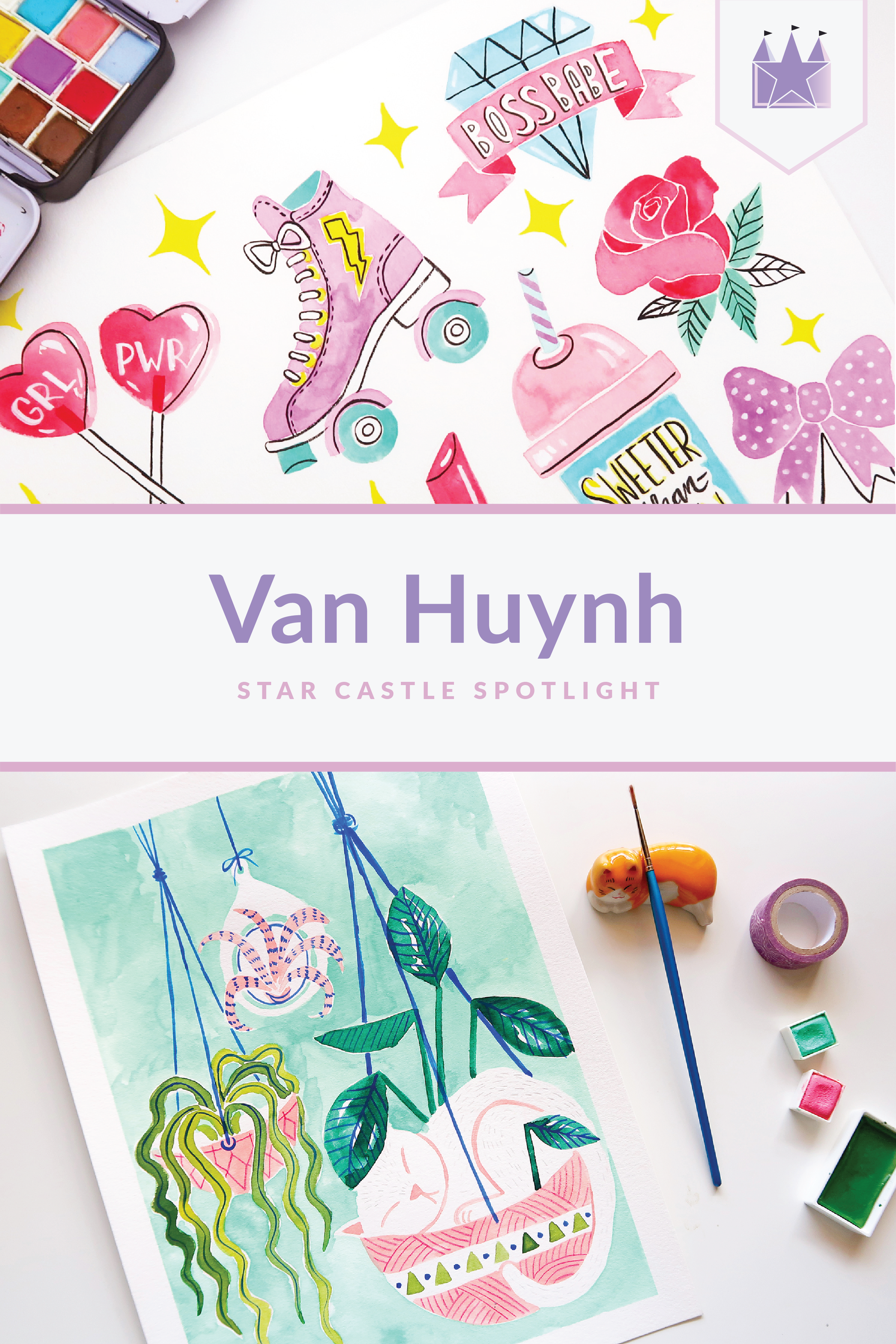 Van Huynh artist spotlight illustration drawing painting