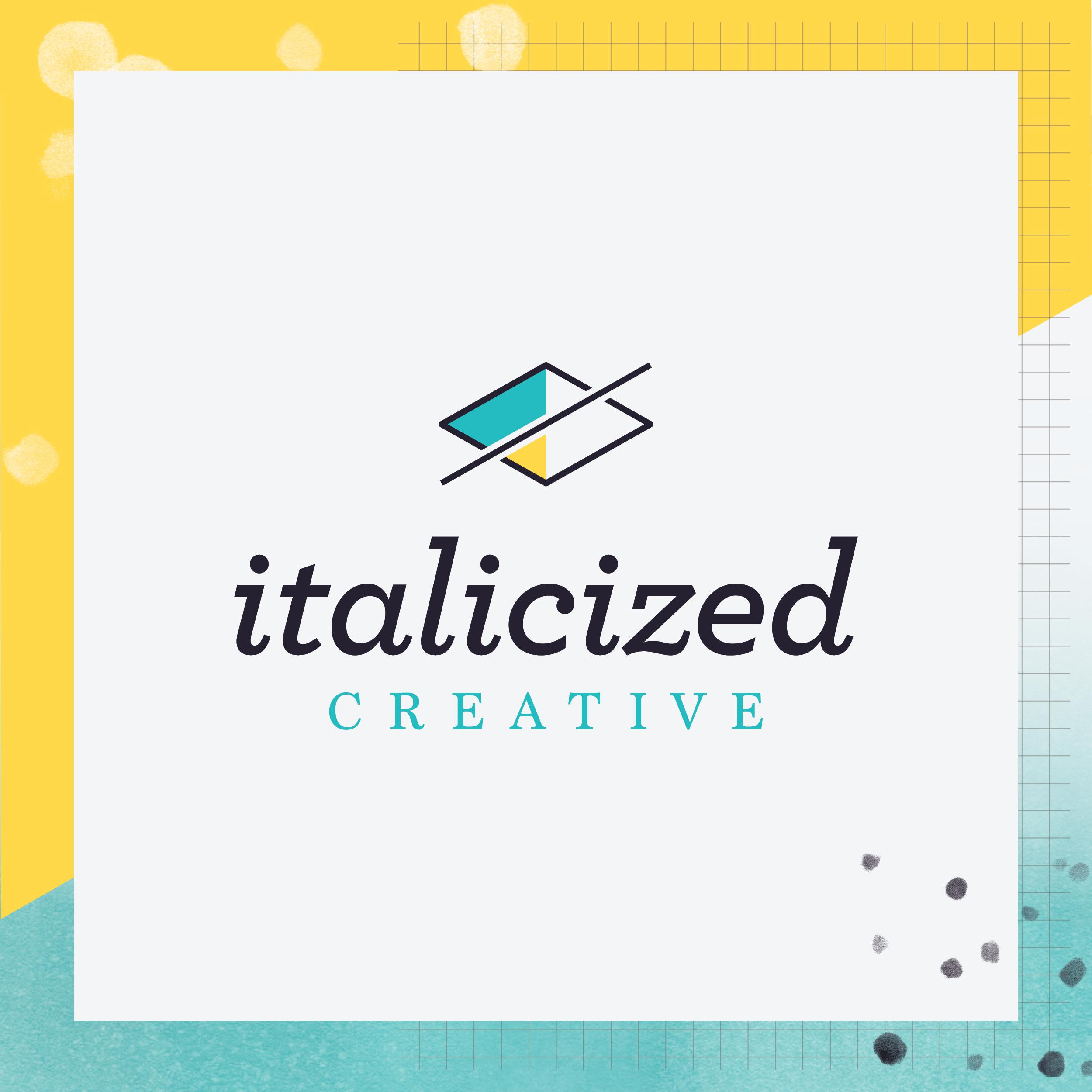 Italicized Creative full brand design style guide