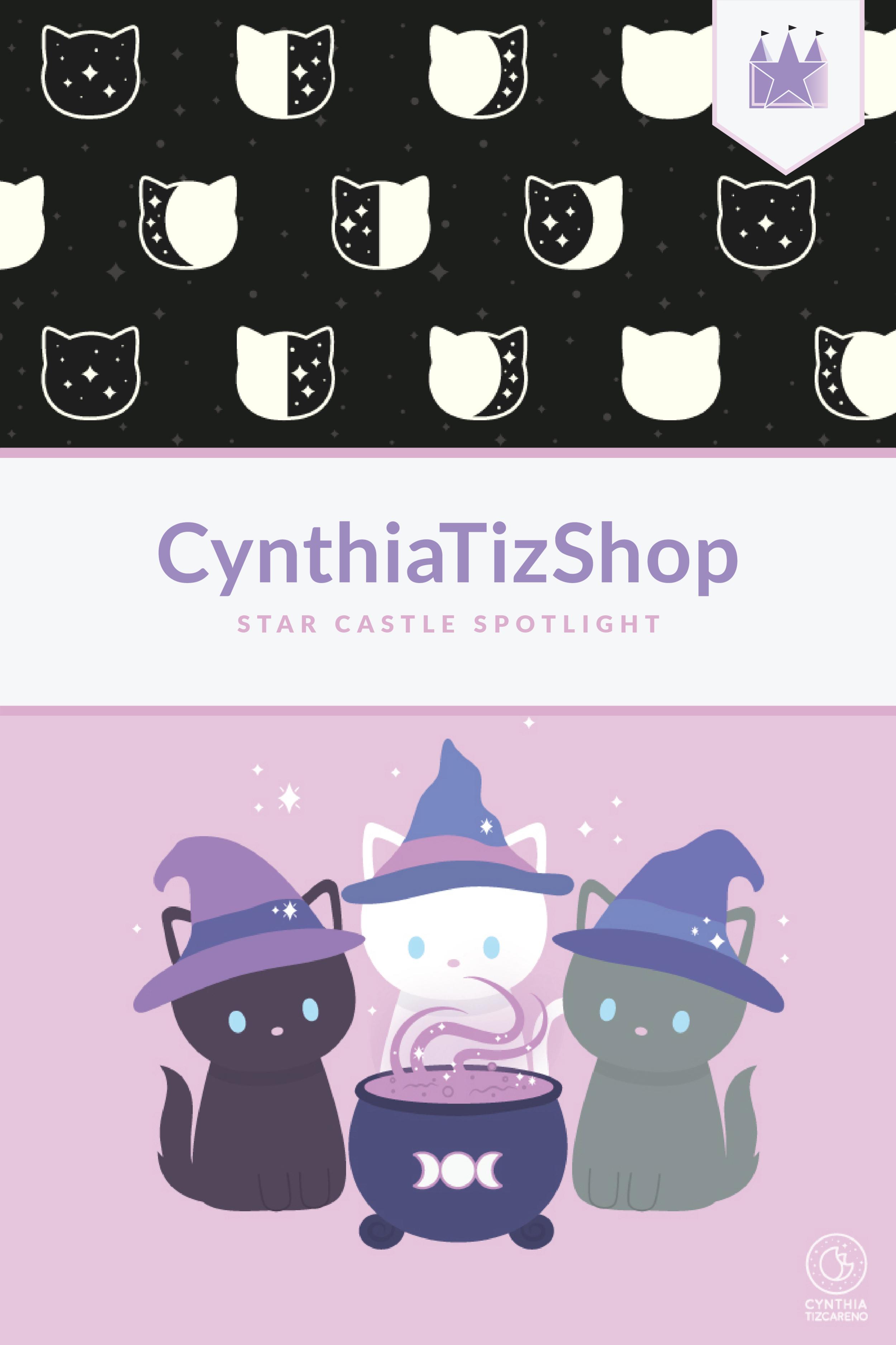 CynthiaTizShop Kawaii Cats Illustration