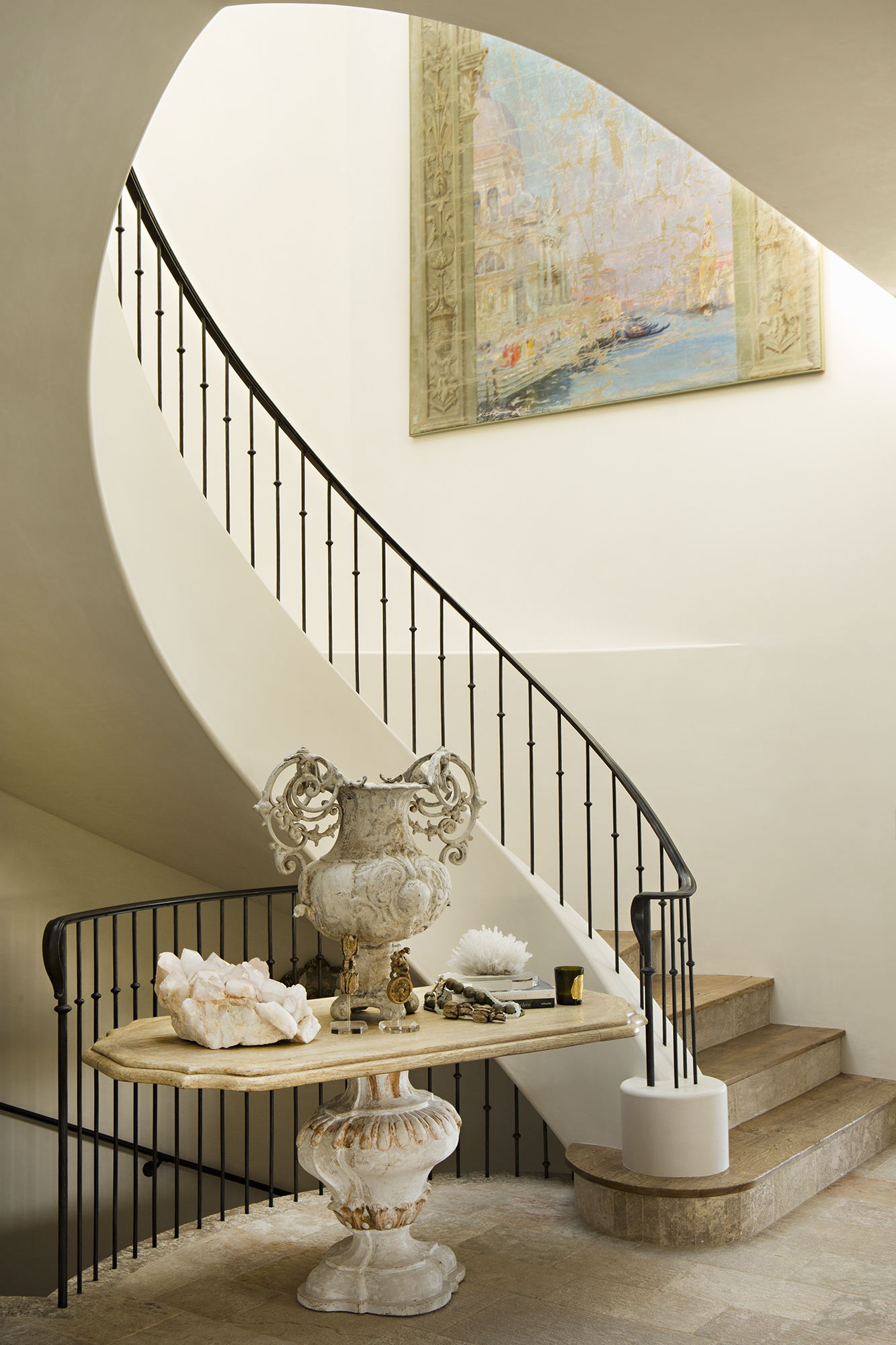 Strand Beach - Provence Beach House Staircase by Oatman Architects