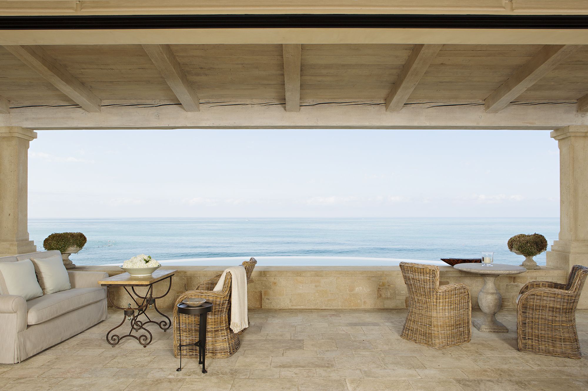 STRAND BEACH - PROVENCE BEACH HOUSE BALCONY BY OATMAN ARCHITECTS