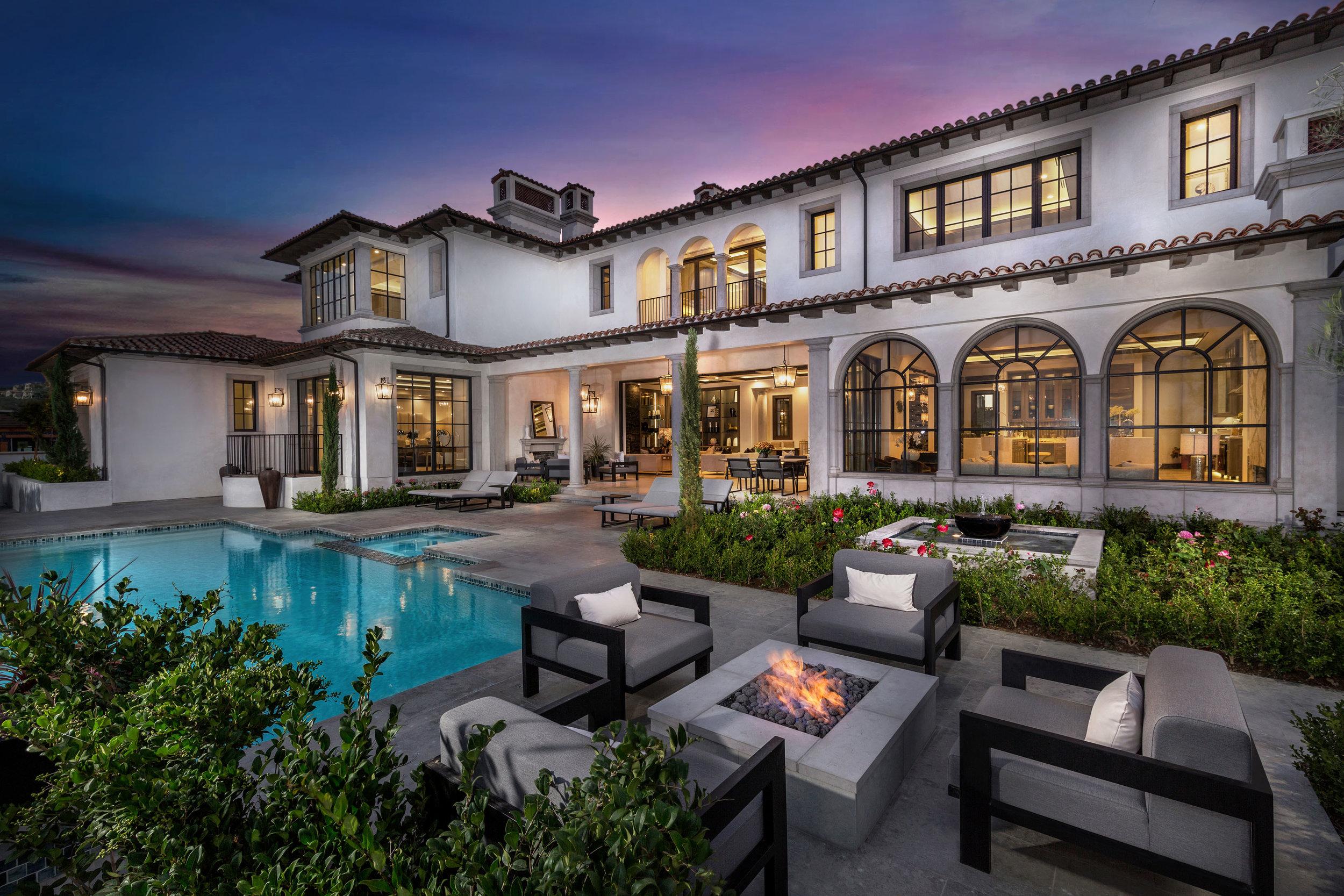 Crystal Cove - Northern Italian Villa Pool by Oatman Architects
