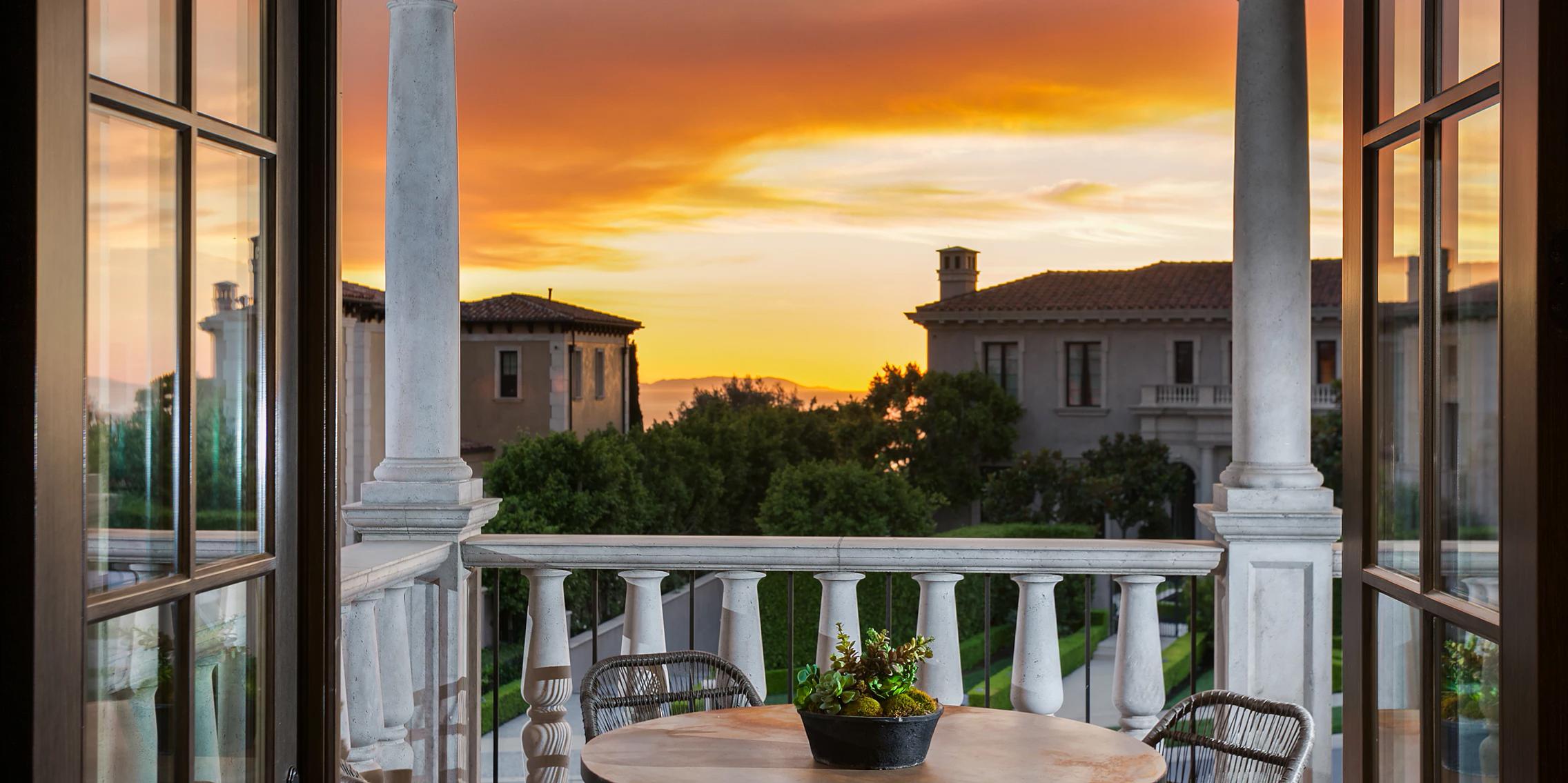 Crystal Cove - Northern Italian Villa Balcony by Oatman Architects