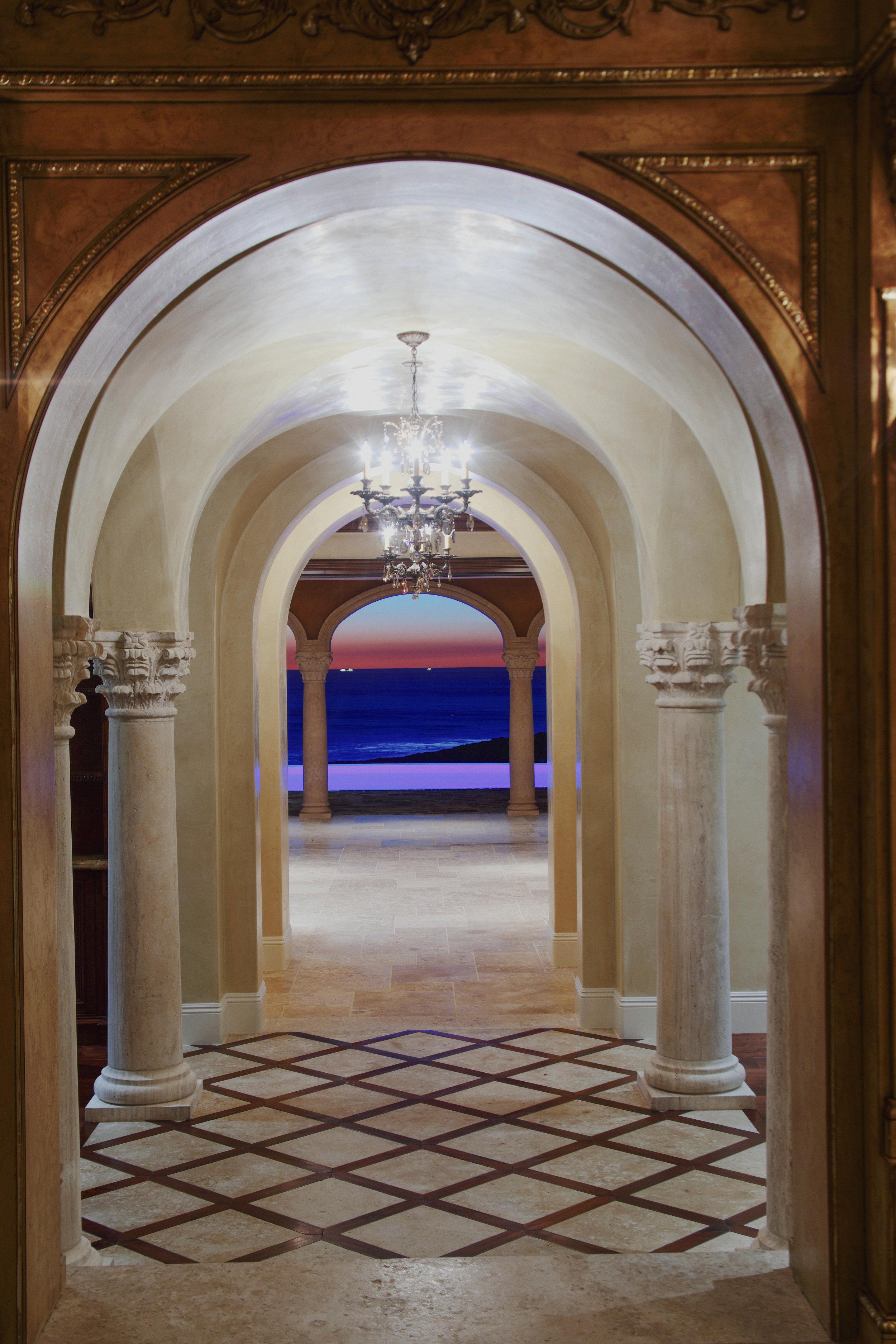 Crystal Cove - Northern Italian Estate HALLWAY by Oatman Architects