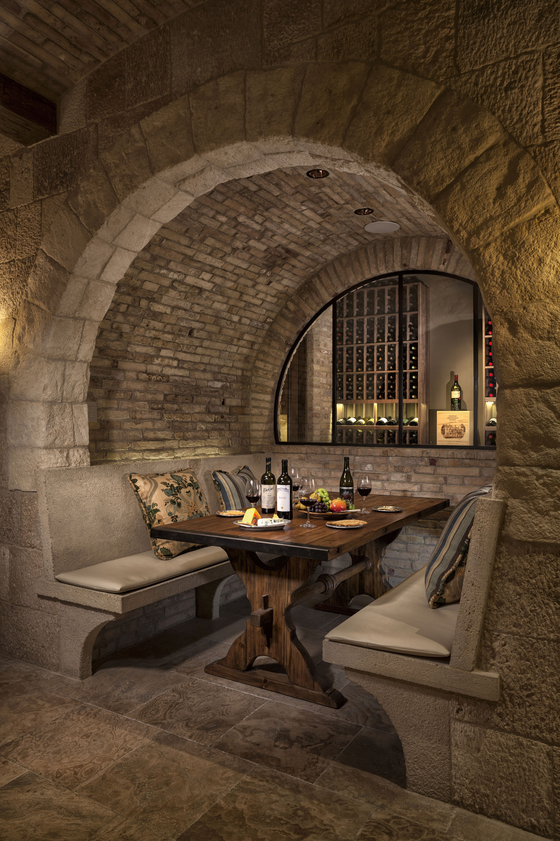 STrand Beach - ROMANesque WINE CELLAR by Oatman Architects
