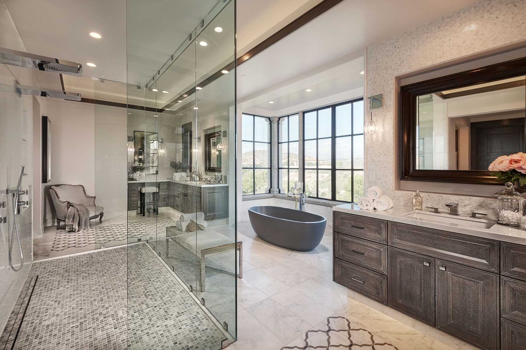 Crystal Cove - Northern Italian Villa Bathroom by Oatman Architects