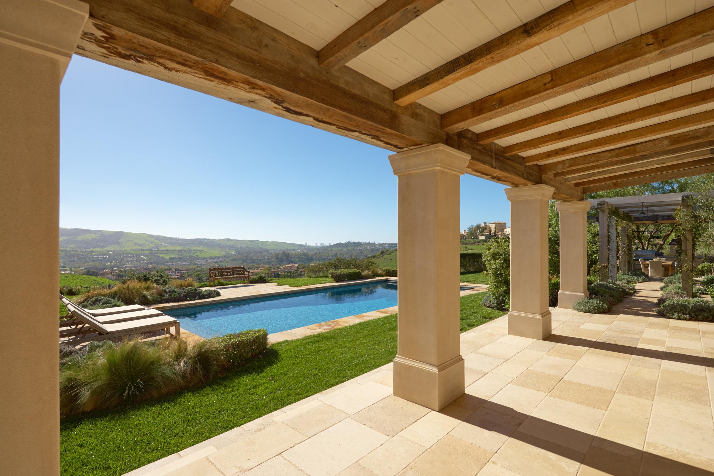 Shady Canyon - Provence Home Patio by Oatman Architects