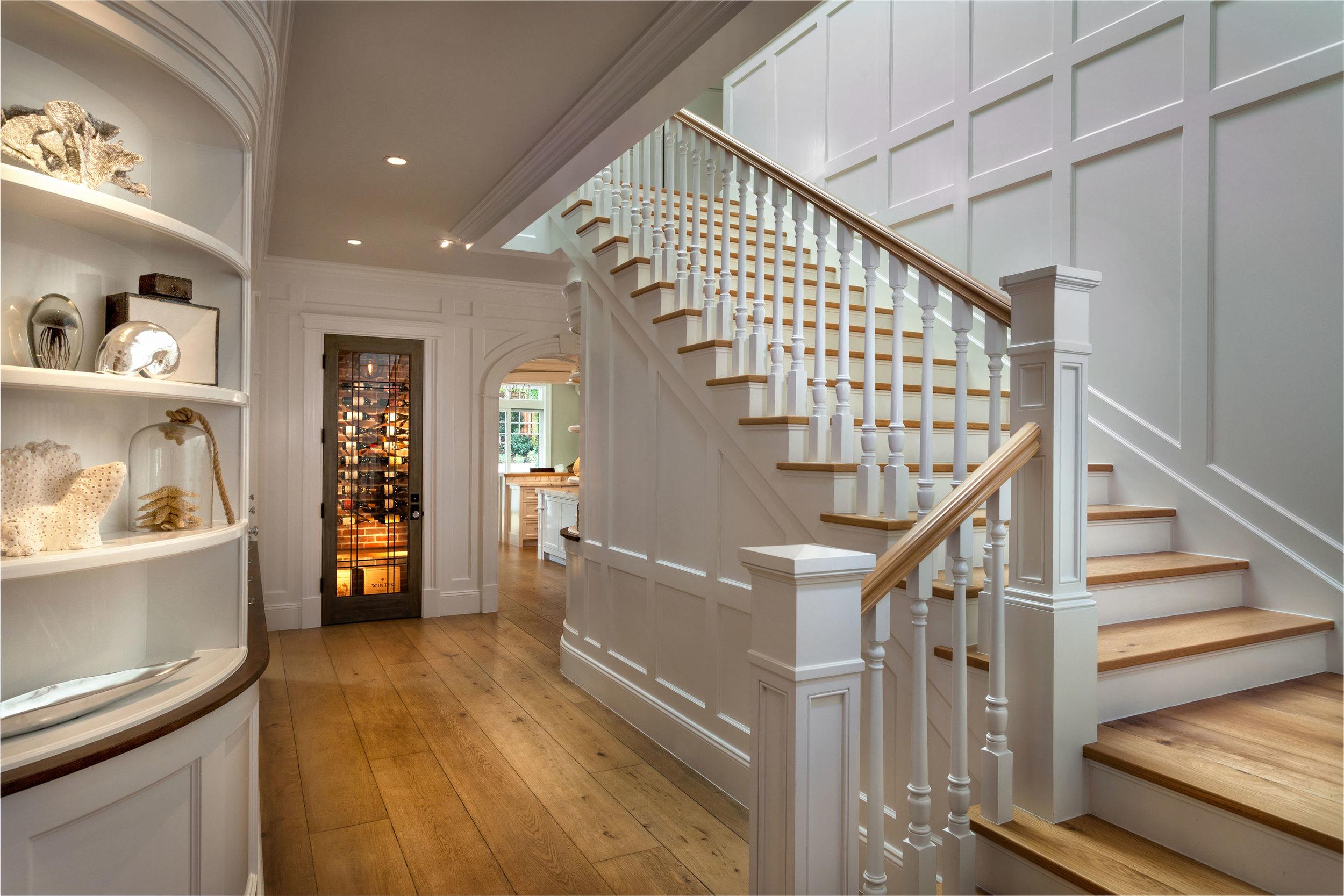 Hamptons Shingle Style Stairwell by Oatman Architects