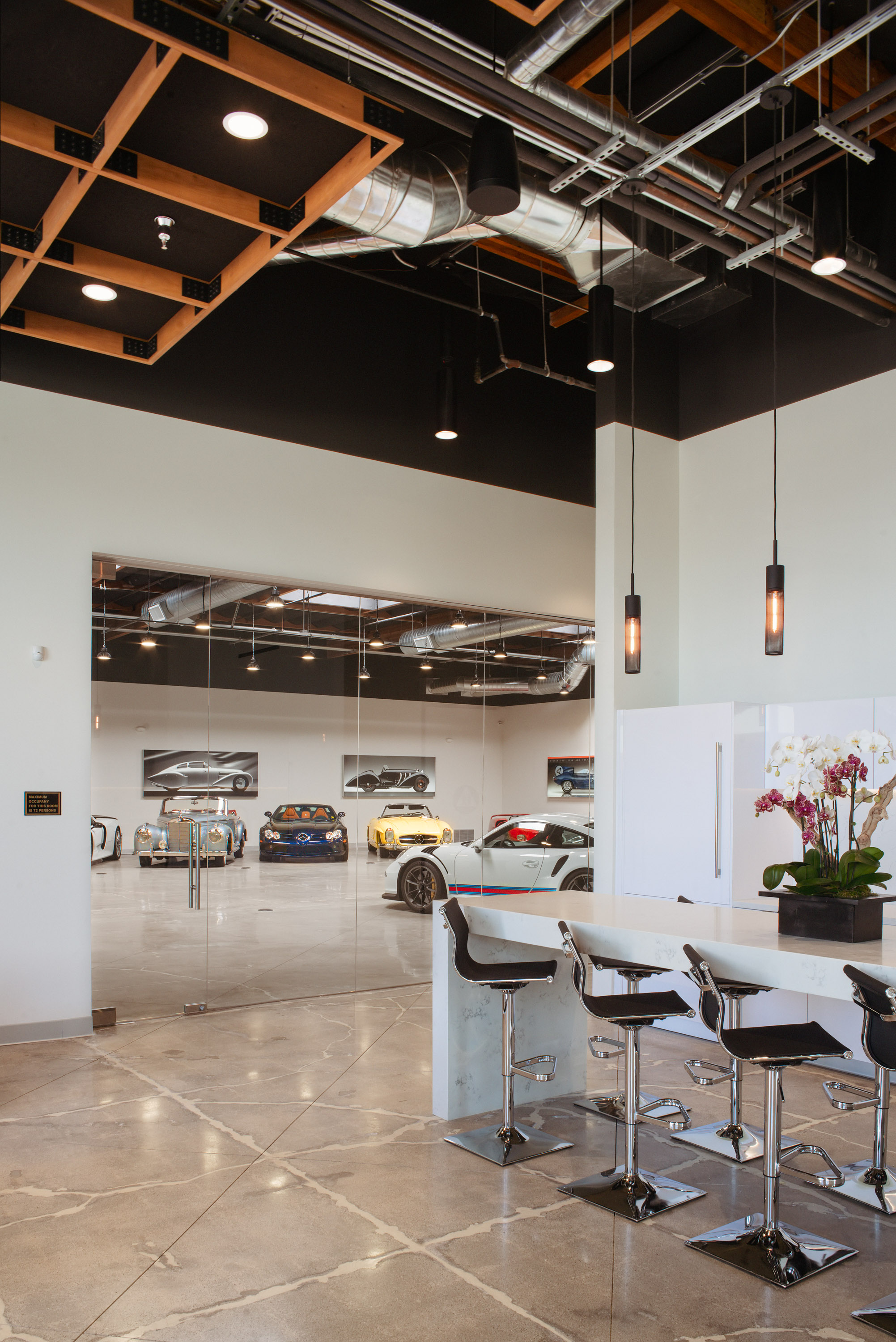 Private Office with Attached Luxury Garage by Oatman Architects