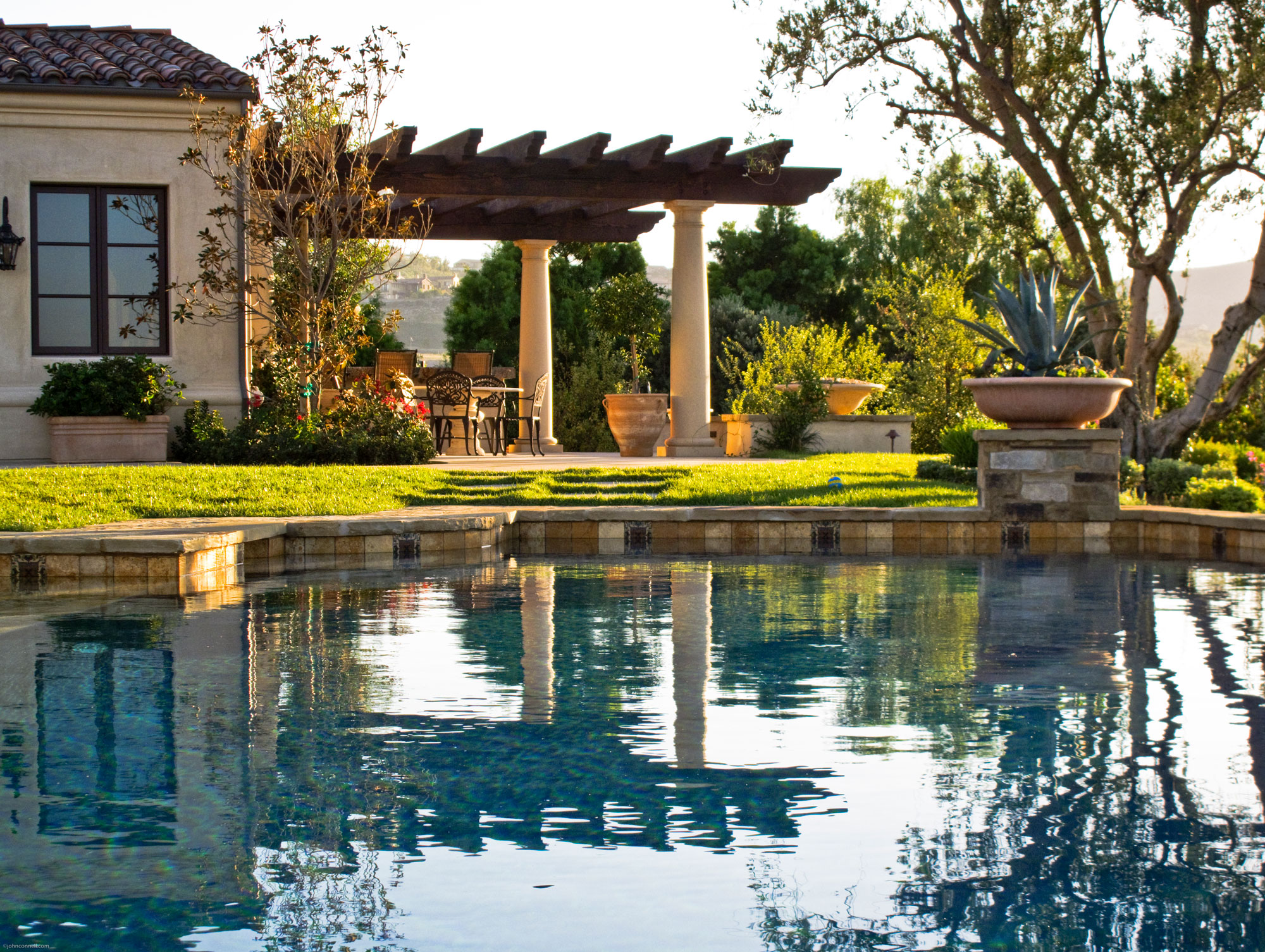 Shady Canyon - Andalusian Revival Pool by Oatman Architects