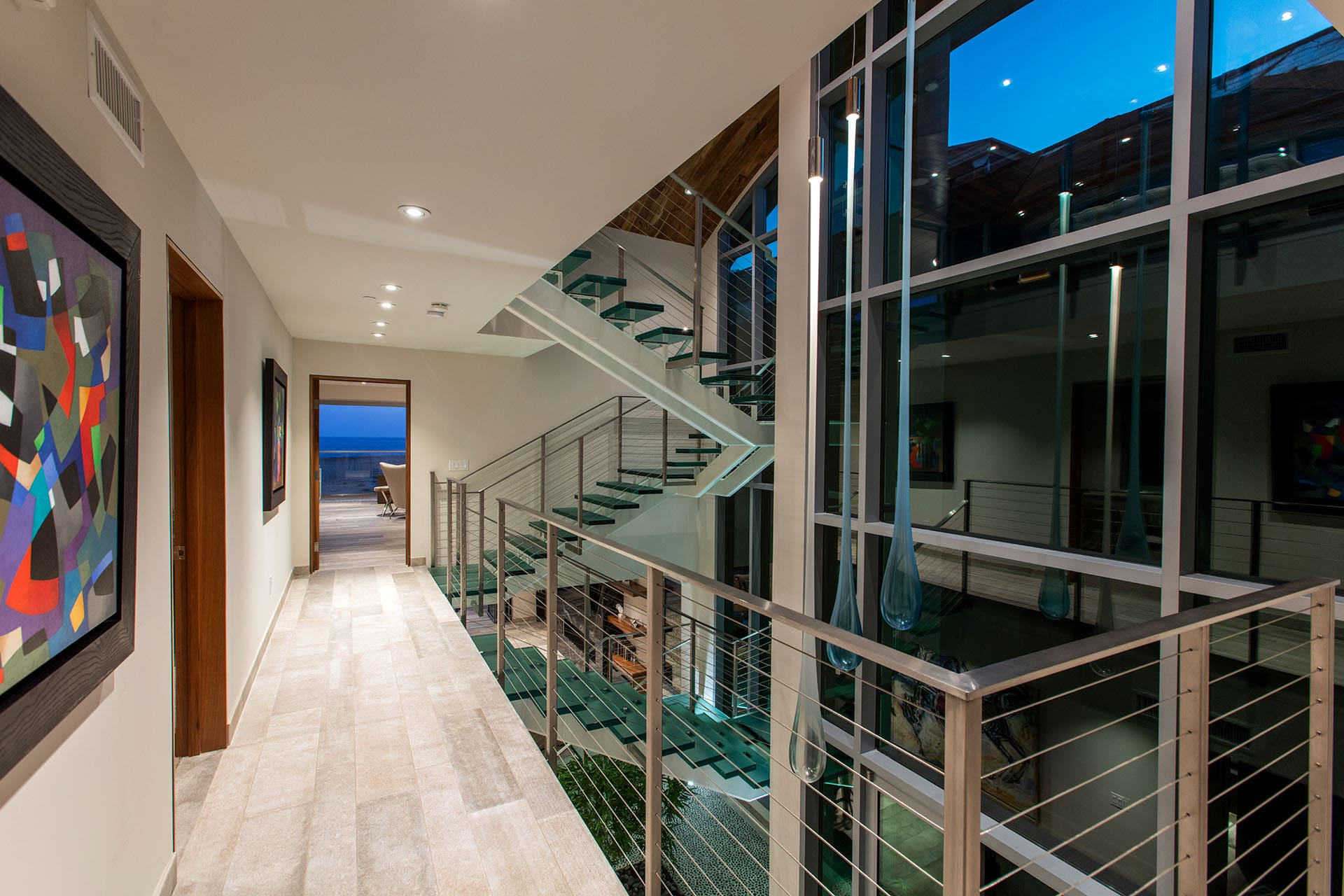 Newport Beach - Contemporary Beach House Stairs by Oatman Architects