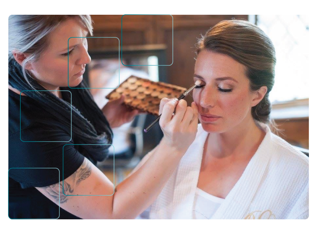 Our Team - Blend Artistry is a team of on-location professional makeup artists and hair stylists. We come to you on your special day to make you look and feel your best. We offer high definition, camera-ready looks with airbrush or liquid foundation. Every look is custom, and quality and client satisfaction are our top priorities.