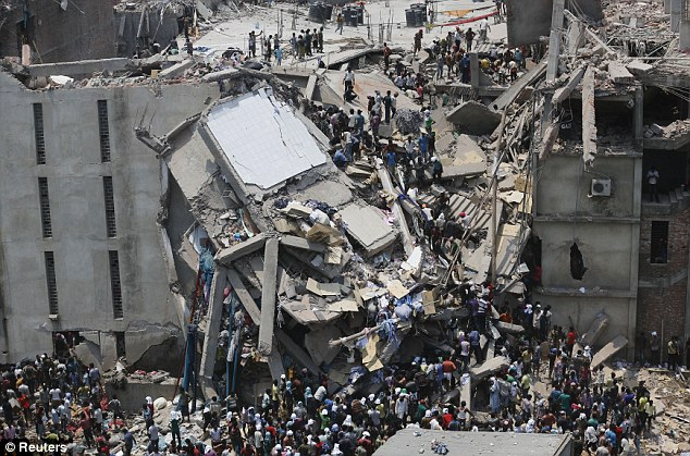 building collapse in Bangalore resulting from a apparel manufacturing facility that was not up to code.