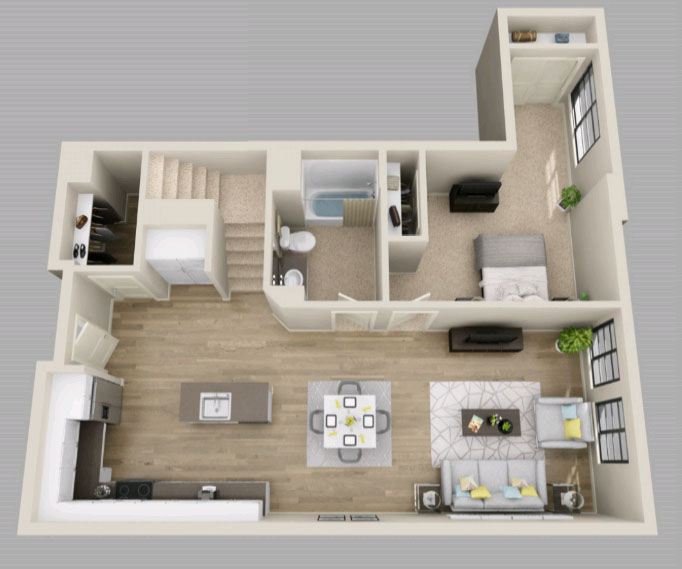 Plan D8 - 1,610 Square Feet (total) - Townhome