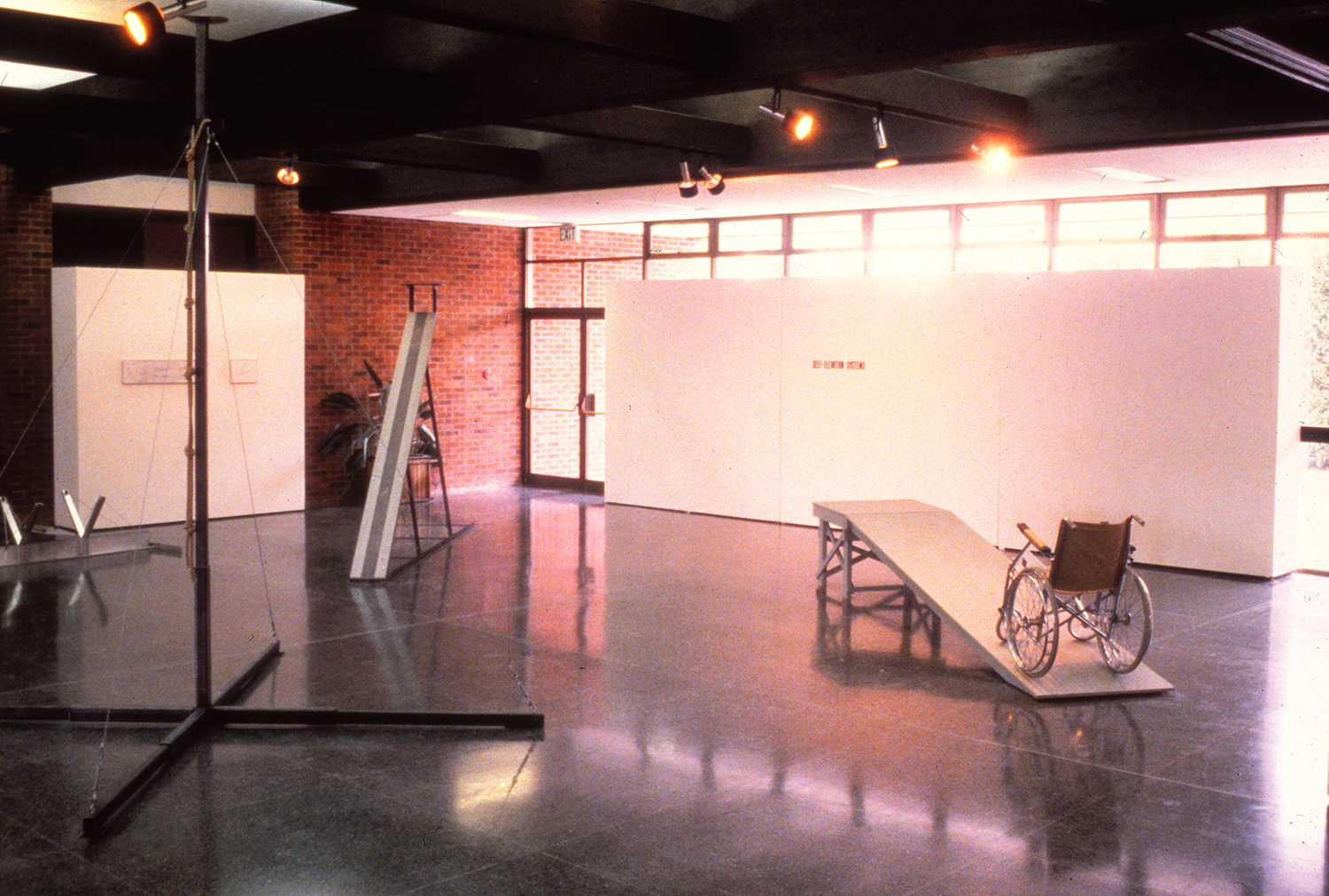 Self-Elevation Systems:  Exhibition View  1979             Linfield College, McMinnville, OR