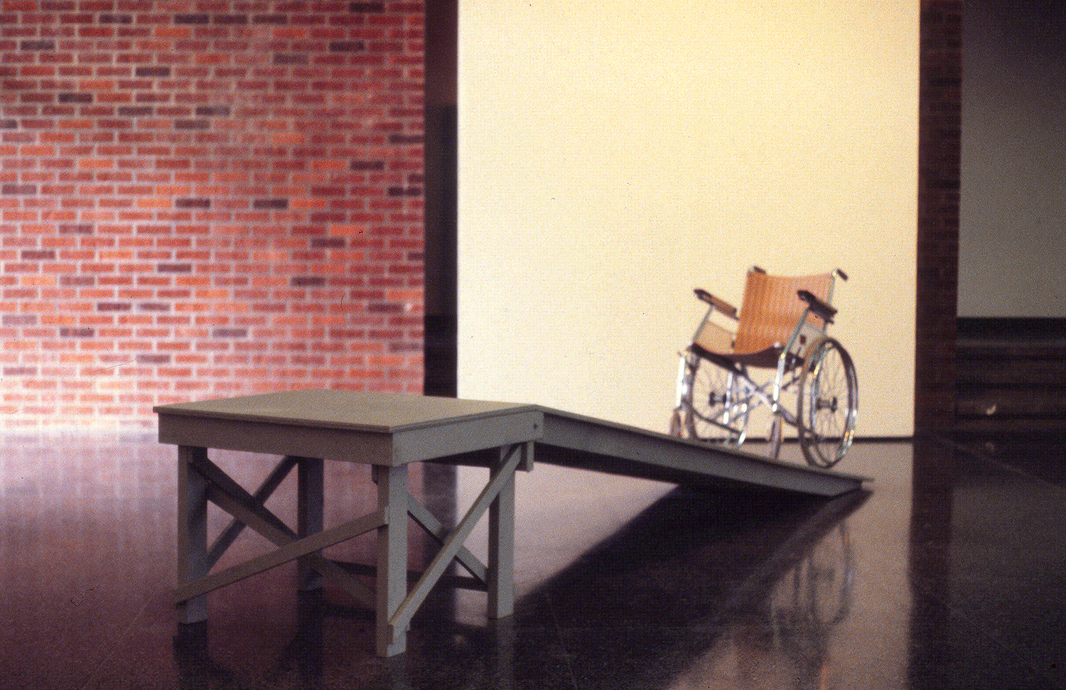 Self-Elevation Systems: Misfit, Humility 1979  Wood/Wheel Chair 15'x 3'x 3' Linfield College, McMinnville, OR