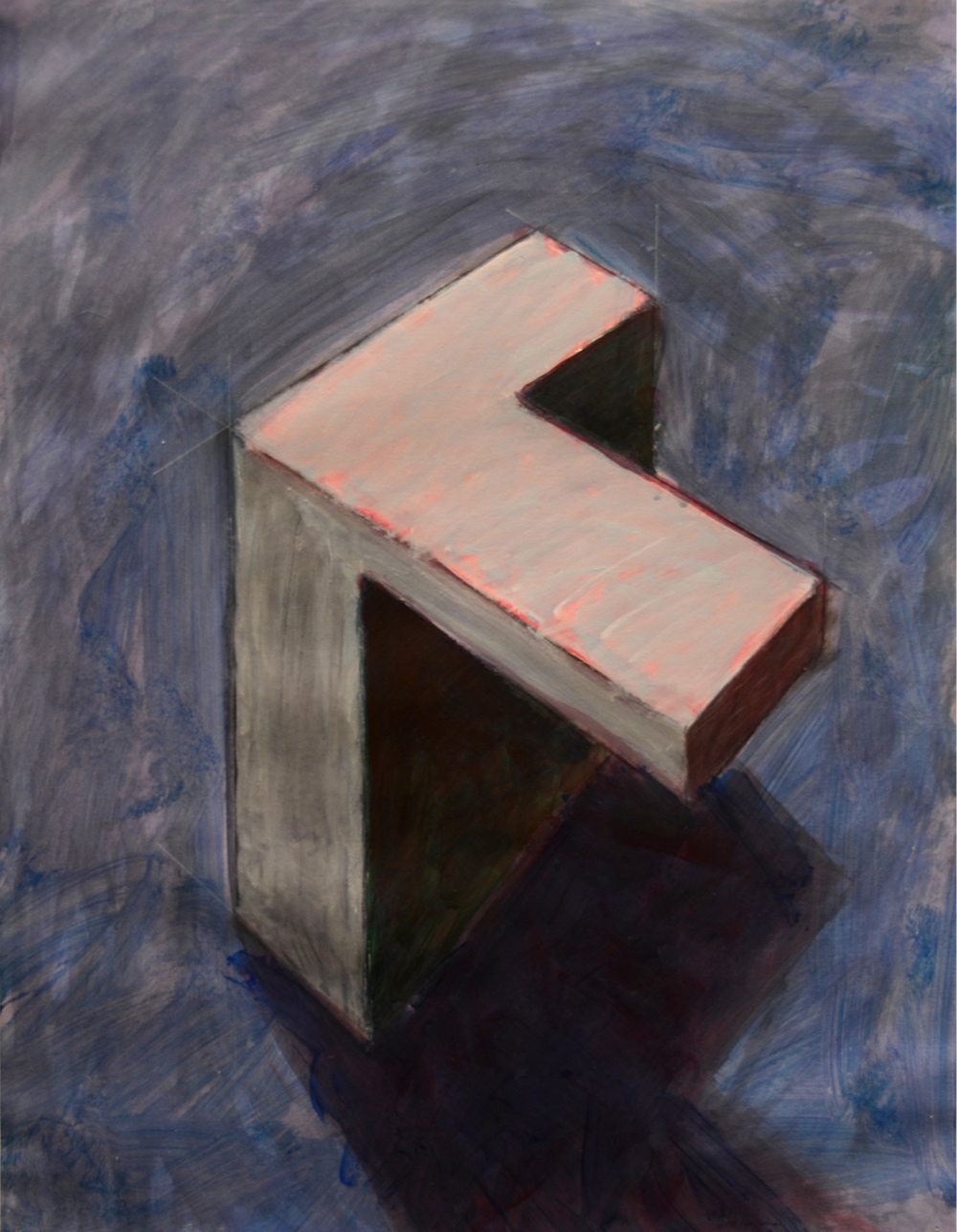 "Faith Structures: Early Steps 1988   Charcoal/cement/acrylic on paper. 20""x 28"" $500"