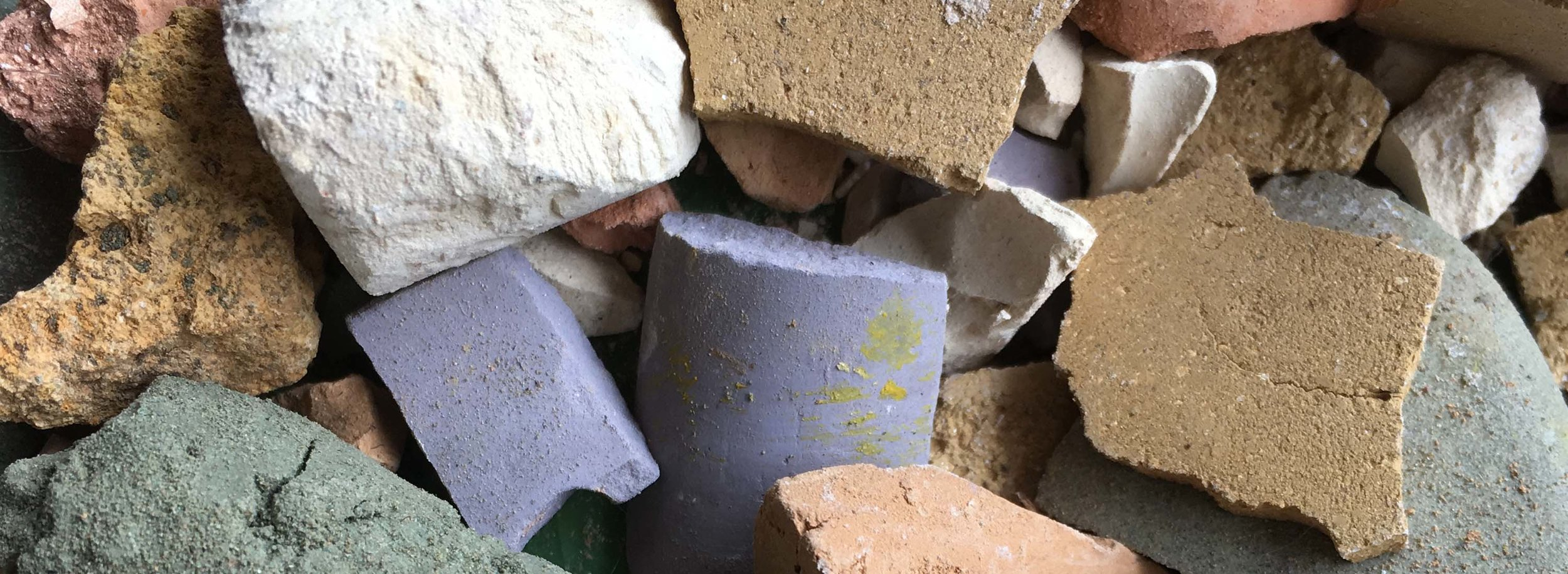 Dried iron ore pigments gathered near the Umpqua River in Oregon.