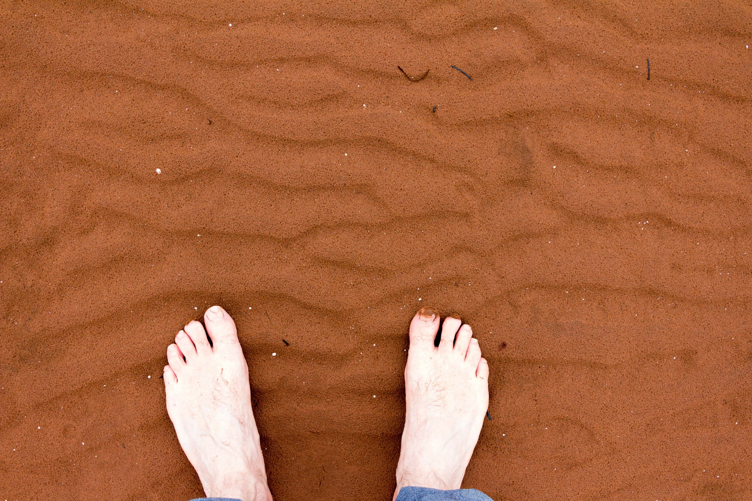 Symeon Van Donkelaar on the red sands of Prince Edward Island. Photo courtesy of Symeon Von Donkelaar.