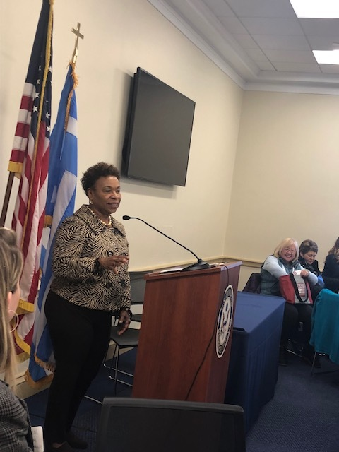 U.S. Representative Barbara Lee addresses attendees at the Bay Area Breakfast