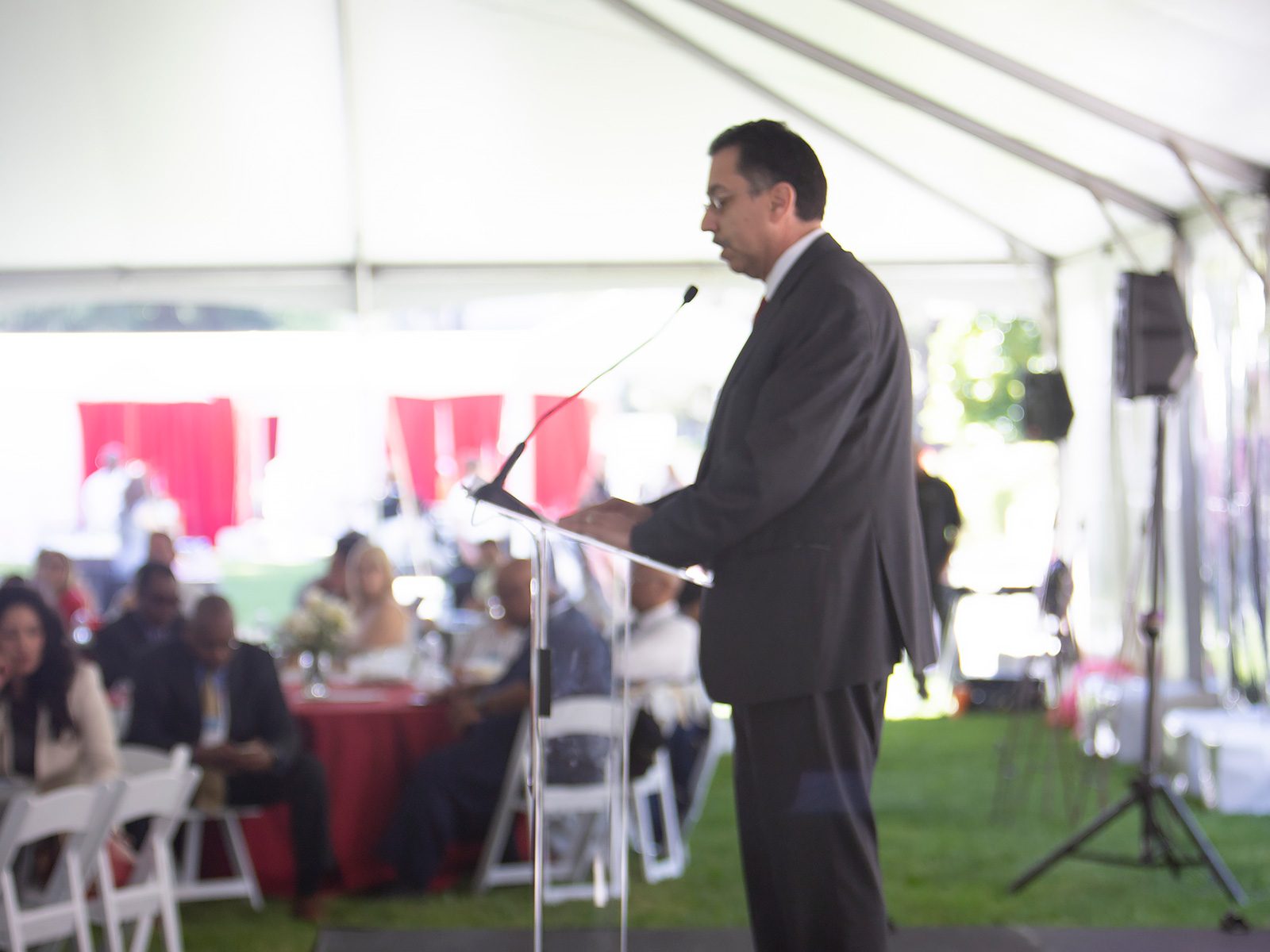 Deputy Cabinet Secretary, Richard Figueroa, speaks to attendees during the annual Day at the Capitol luncheon