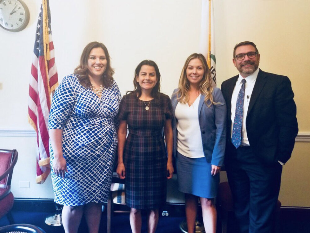 Bernice Nunez Constant, Vice President of Government Affairs of AltaMed, Congresswoman Nanette D. Barragán Shauna Day, Director of Government Relations of Altamed, Warren J. Brodine, President & CEO of Eisner Health