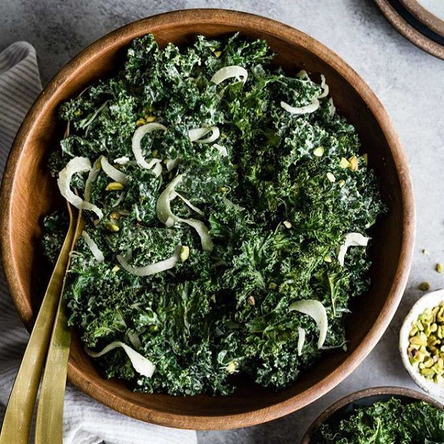 We love eating at restaurants and trying to recreate our favorite dishes at home, it rarely works but this Kale Salad from Alden and Harlow is close. ⠀ .⠀ It doesn't contain YUMYIN, we just love it and want to share for the holidays⠀ .⠀ .⠀ .⠀ 4 Servings⠀ .⠀ Creamy Pistachio Dressing⠀ ½ cup roasted and unsalted pistachios⠀ ¼ cup + 2 tablespoons lemon juice⠀ ¼ cup water (plus more as needed)⠀ 2 tablespoons honey⠀ 2 tablespoons white wine or apple cider vinegar⠀ ½ clove garlic⠀ ½ teaspoon kosher salt⠀ ¼ teaspoon pepper⠀ ½ cup extra virgin olive oil⠀ .⠀ Kale Salad⠀ 1 bunch kale, cleaned and dried well, finely sliced⠀ 1/4 cup YUMYIN⠀ ⅓ cup freshly grated parmesan cheese (optional)⠀ 2-3 tablespoons cup chopped roasted pistachios, for garnish⠀ .⠀ INSTRUCTIONS⠀ -In a high powdered blender or food processor, combine the pistachios, lemon juice, water, honey, vinegar, garlic, and salt, and pepper. Blend well and with the blender still running, slowly pour in the olive oil, blending until creamy and smooth. ⠀ -If the dressing is too thick, add up to ¼ cup more water, 1 tablespoon at a time until you reach desired consistency (it should be creamy and not runny). ⠀ -Chill until ready to serve.⠀ -In a large bowl, massage the sliced the kale leaves for a few minutes⠀ -Add YUMYIN and a few tablespoons of dressing to taste, using your hands to massage the dressing into the kale. ⠀ -Sprinkle with parmesan cheese and add more dressing to taste⠀ -Serve topped with crispy kale chips for some extra yum⠀ .⠀ .⠀ https://www.yumyin.com/recipes/2018/11/8/ubiquitous-kale-salad-with-pistachio-dressing⠀ .⠀ .⠀ #salad #recipe #thanksgiving #yumyin #yum #recipeoftheday