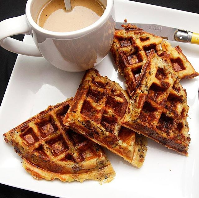 Dare we say Stuffing Waffles are the best way to enjoy Thanksgiving leftovers?⠀ .⠀ .⠀ INGREDIENTS:⠀ -Leftover stuffing (ideally Silver Palate Stuffing)⠀ -Butter⠀ -Gravy and Cranberry (or syrup)⠀ .⠀ DIRECTIONS⠀ -Heat a waffle iron⠀ -Butter the iron⠀ -Add leftover stuffing to waffle iron⠀ -Cook for 10 minutes, until the outside of the waffle is crispy⠀ -Plate your waffle, drizzle gravy and cranberry (or syrup) all over it⠀ -Enjoy!⠀ .⠀ .⠀ .⠀ #seriouseats #waffles ##thanksgiving #stuffing #dressing #turkeyday #recipe #recipeoftheday #silverpalate #boozeinfood #grandmariner #southerncomfort #bonappetit #food52 #f52 #f52gram #caramelizedonion #caramelizedonions #sidesvsturkey #notglutenfree#stuffingwaffle #stuffingwaffles #leftovers ⠀ .⠀ .⠀ https://www.yumyin.com/recipes/2018/11/23/leftover-stuffing-waffles