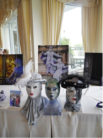 Masks created by the Pitassis displayed at Festa Carnevale