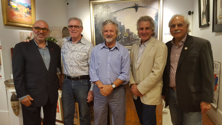 Berge Zobian, owner of Gallery Z, with artists Lee Chabot, Salvatore Mancini, Anthony Tomaselli, and Stephan Brigidi
