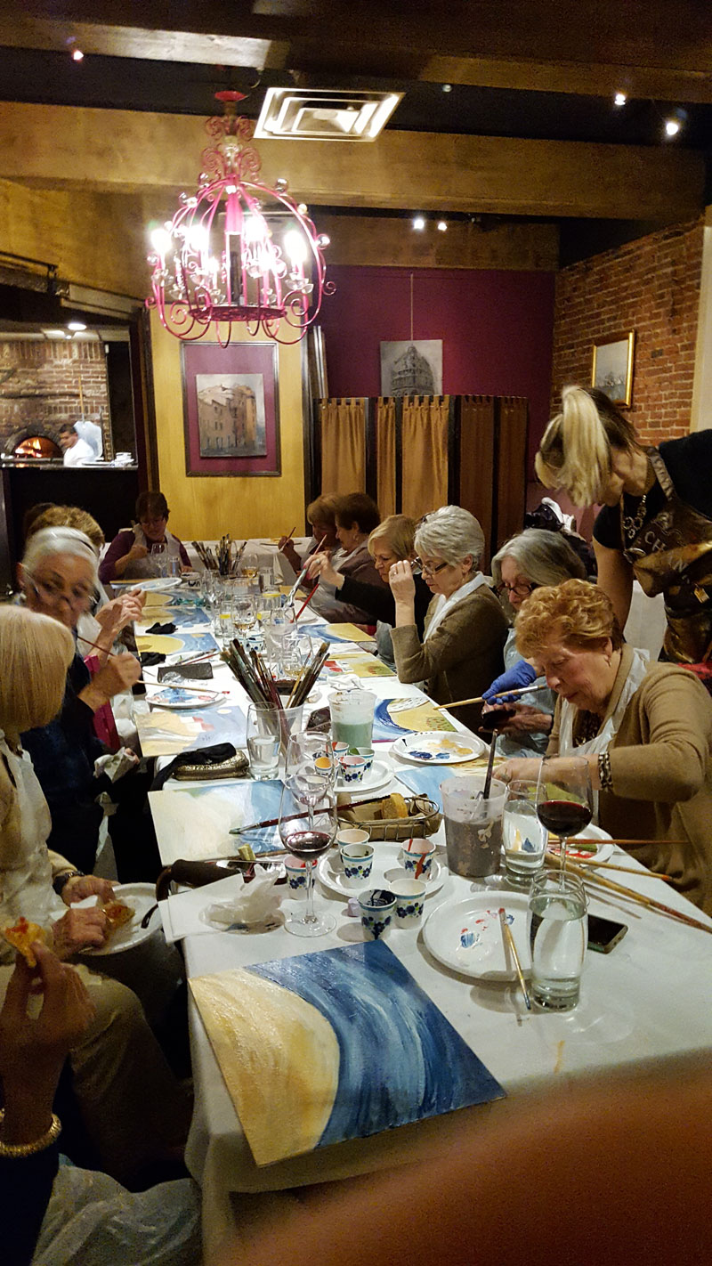 Paint & Vino night at Trattoria Zooma