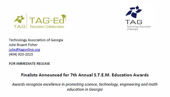 COLUMBIA NAMED AS FINALIST FOR TAG STEM AWARDS -