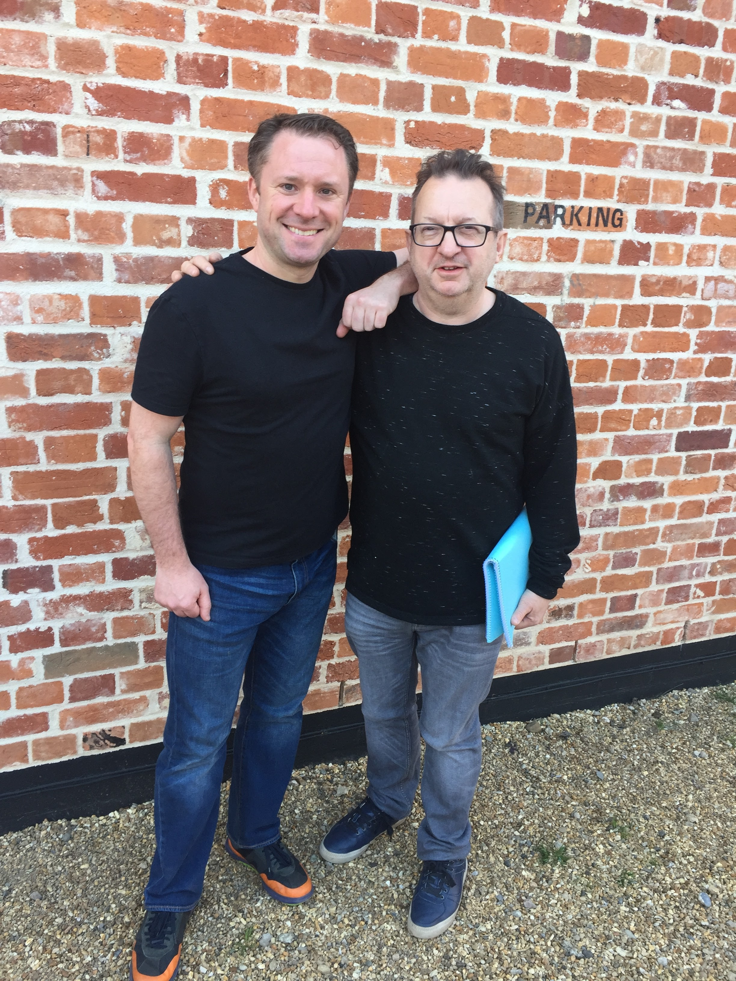 At Snape Maltings with Mark-Anthony Turnage for the world premiere of 'Martland Memorial' April 2017