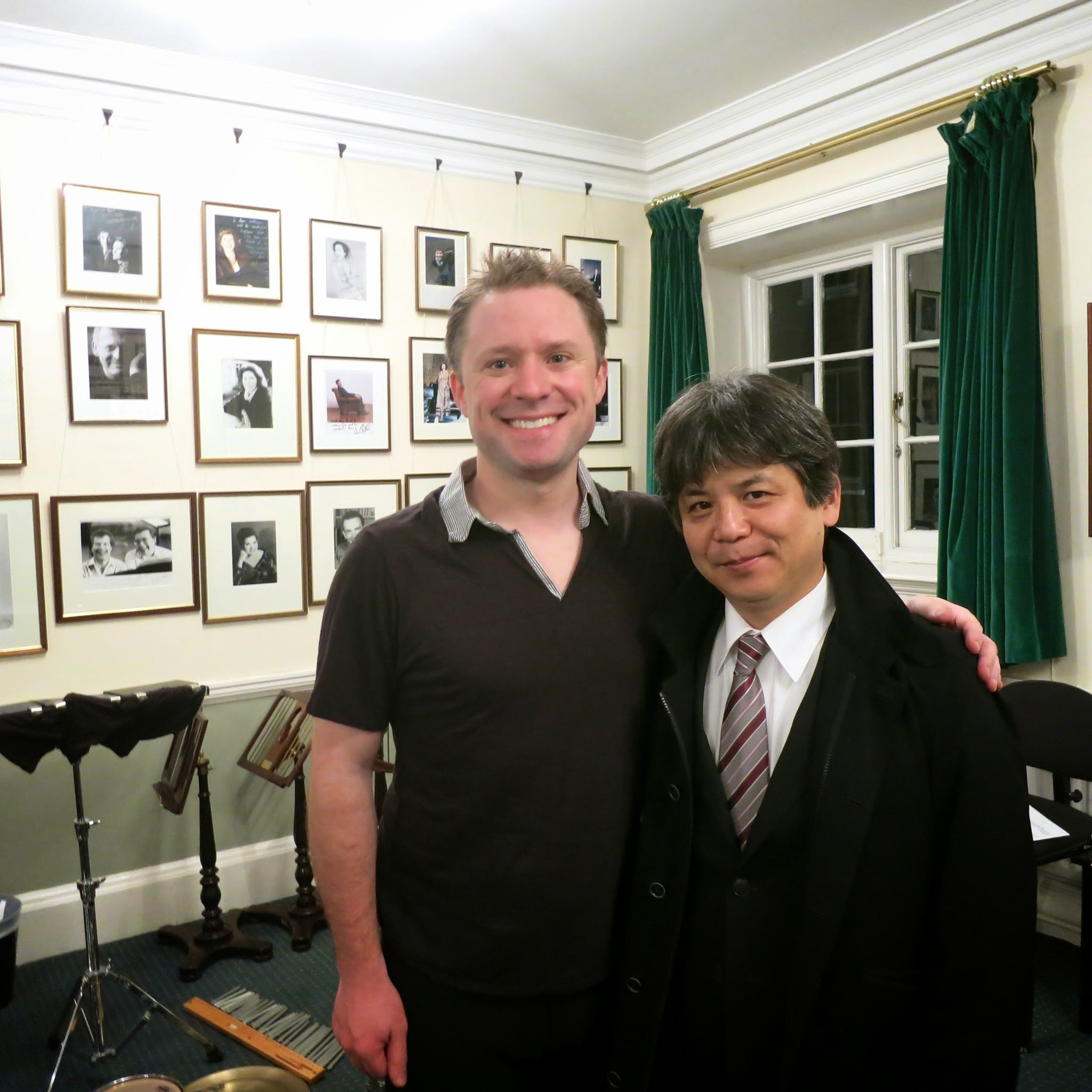 With Toshio Hosokawa at London's Wigmore Hall following my solo recital debut there.