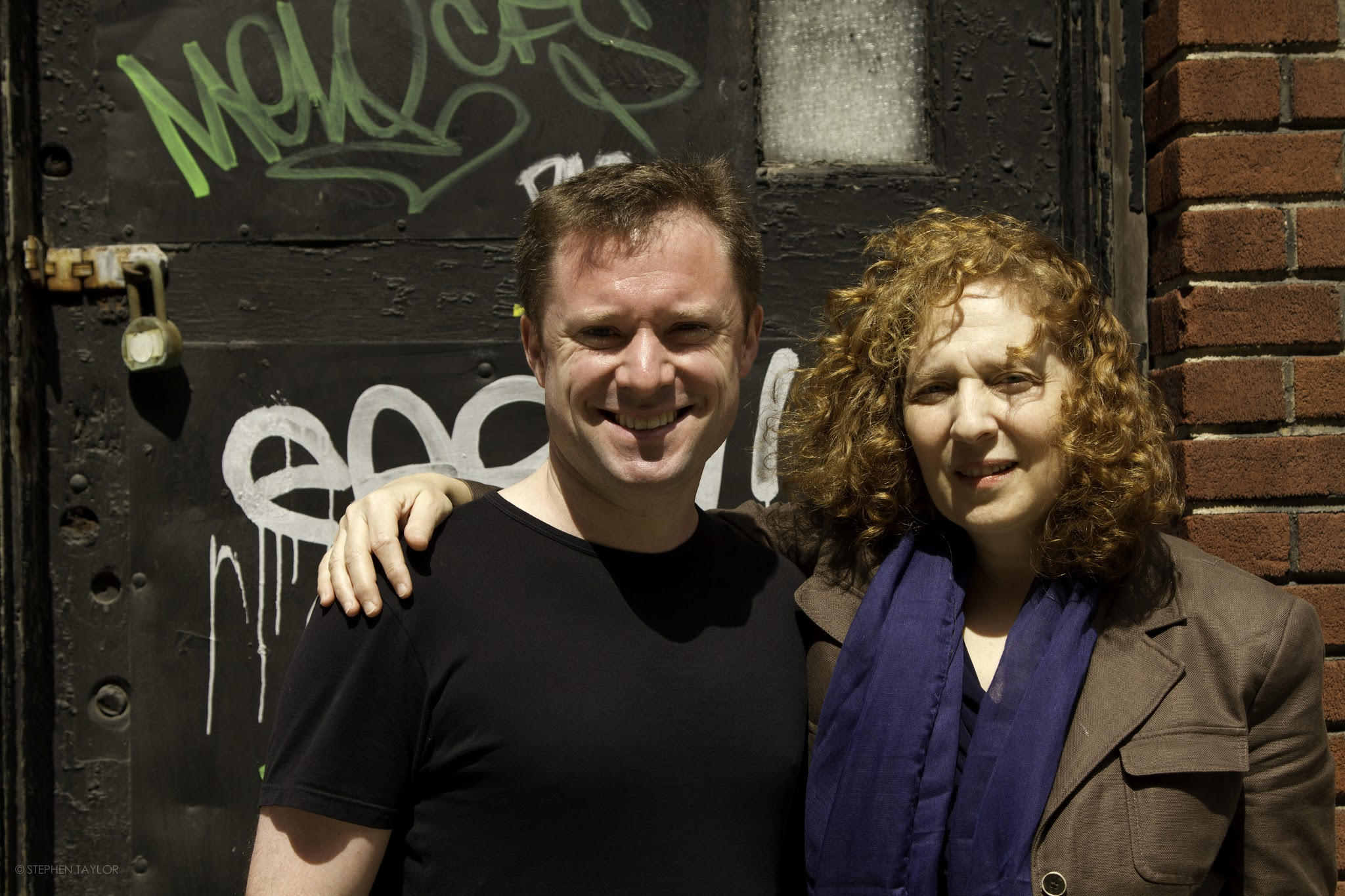 With Julia Wolfe in Tribeca, NYC in April 2013.