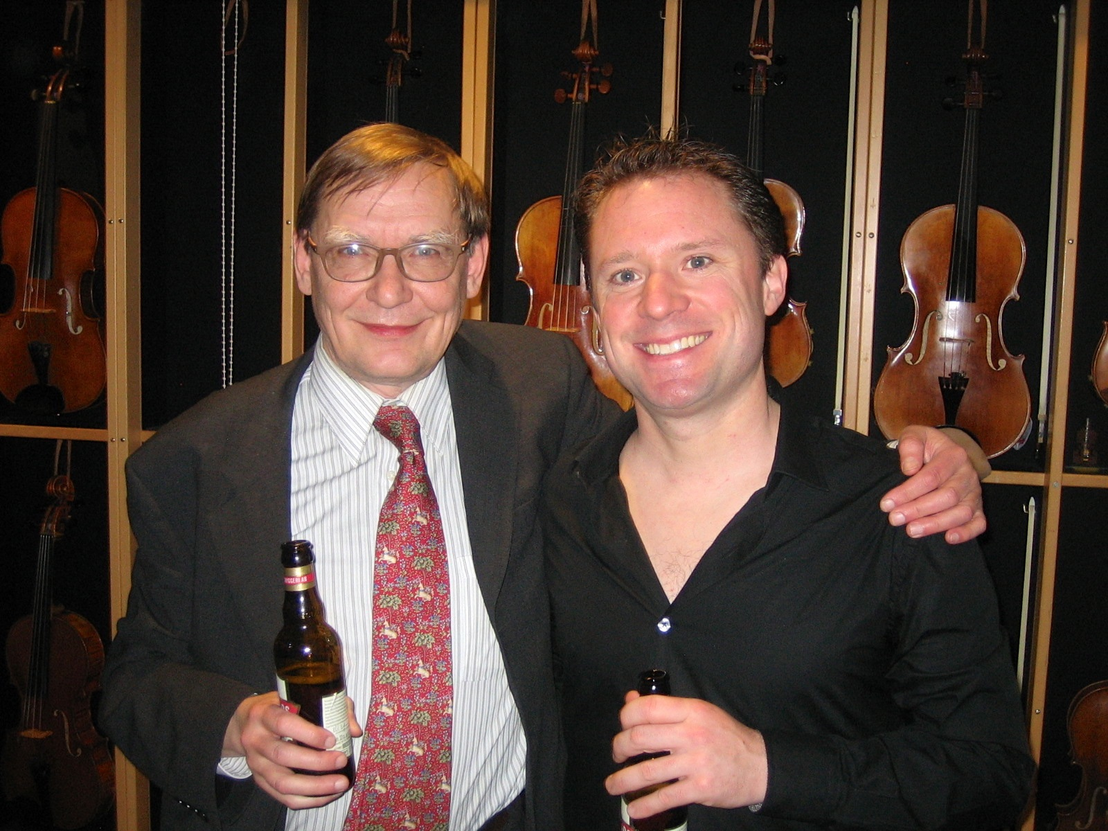 With Kalevi Aho in Gothenberg for the Swedish Premiere of 'Sieidi' in November 2012.