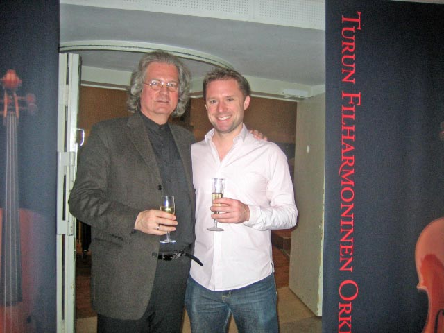 With Askell Masson following the premiere of his Percussion Concerto with the Turku Philharmonic in December 2011