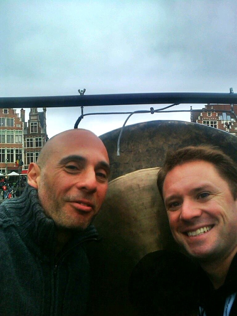 10 Premieres and counting - with Dave Maric in Ghent in September 2011.