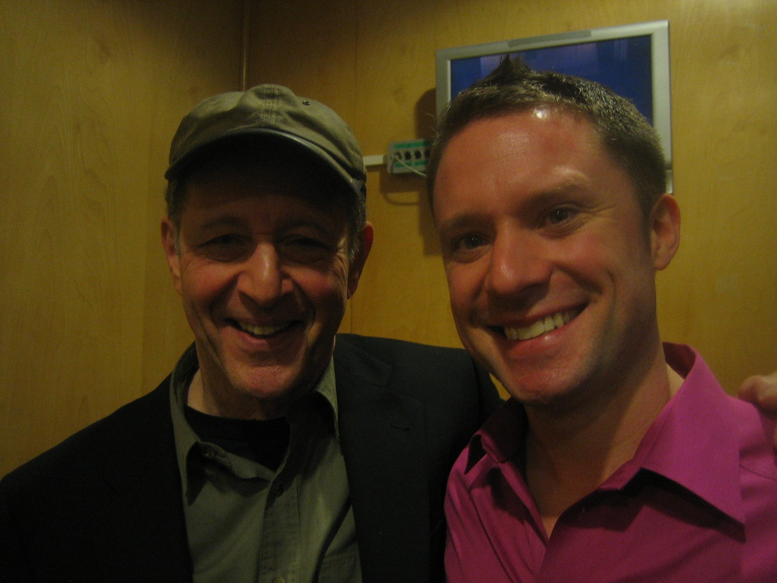 With Steve Reich at London's South Bank Centre in February 2010, on the first occasion we were to meet.