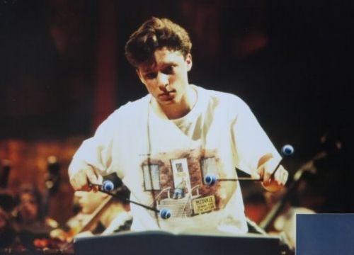 Aged 17 in rehearsal with the National Youth Orchestra of Great Britain at the Barbican Centre in 1994.