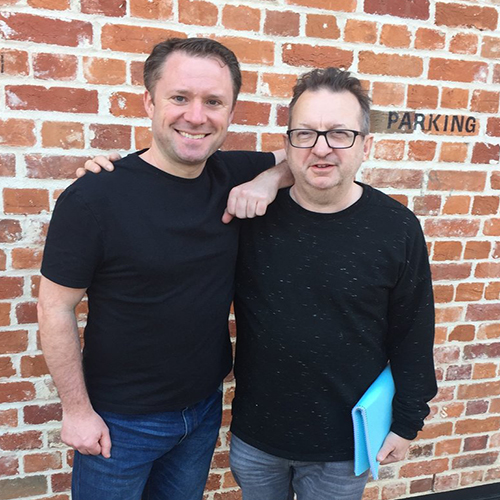 Colin pictured with Mark-Anthony Turnage