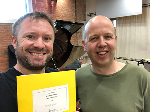 Colin in rehearsals with Huw Watkins