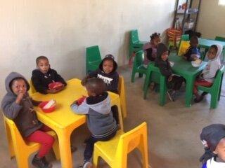 Mealtime in the Kindergarten.