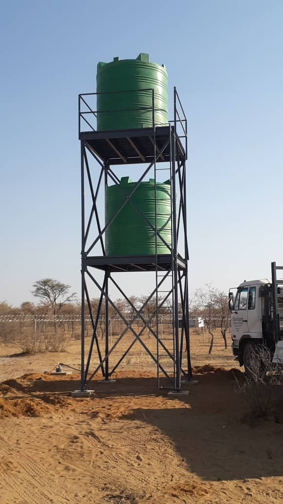 With the purchase of the water tanks and stand, the water supply to the Sanctuary Land is now complete. Our heart-felt thanks to CSNS donors who made this possible!