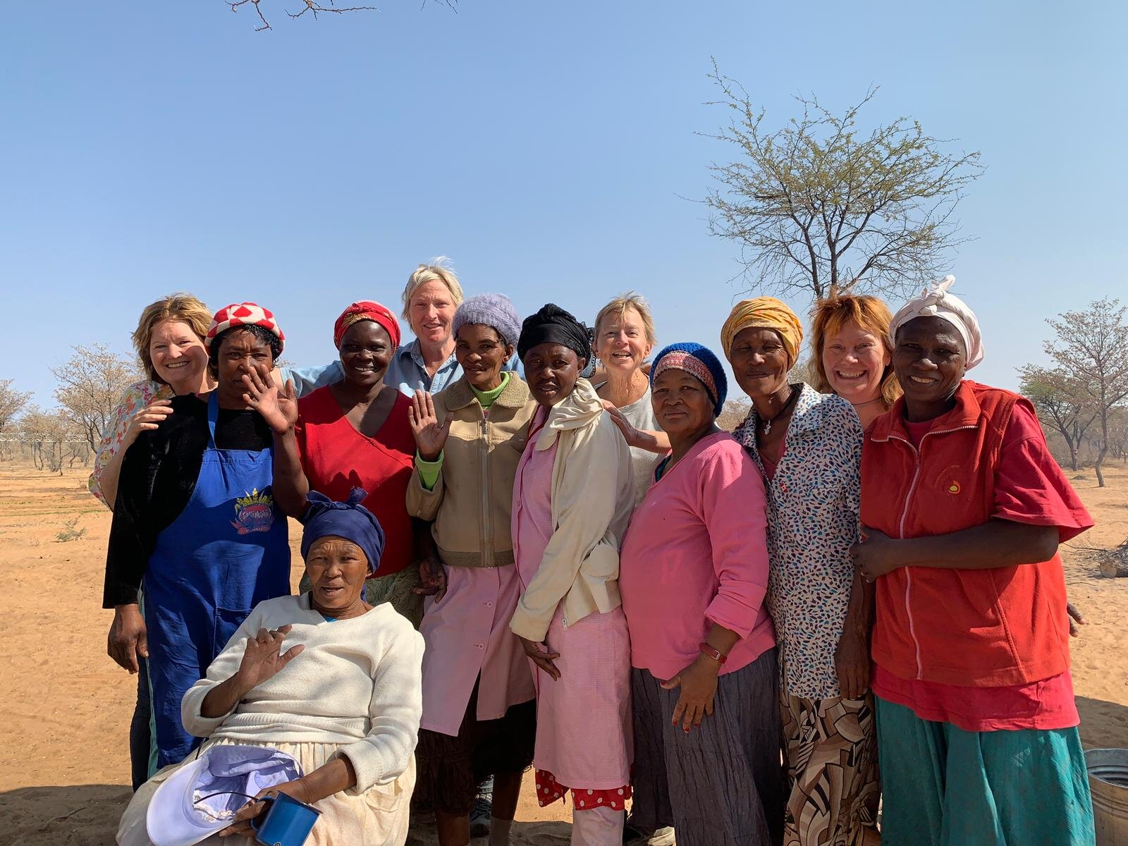 Chief Ita with her wonderful group of soup kitchen volunteers, CSNS Board members Diane, Helge, Betty and Judy in the back row. All working together in harmony on a shared vision for the orphaned and vulnerable children!